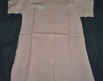 Pink Seerucker Baby Girls Vintage 1950's Appliqued Duck Robe