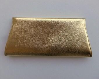 Vintage 60's Gold Faux Leather Clutch