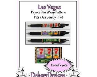 Bead Pattern Peyote(Pen Wrap/Cover)-Las Vegas