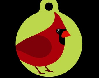 Pet ID Tag - Cardinal Pet Tag, Dog Tag, Cat Tag, Luggage Tag, Child ID Tag