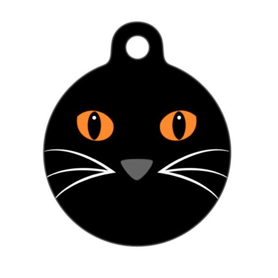 Pet ID Tag - Cat Face Pet Tag, Dog Tag, Cat Tag, Luggage Tag, Child ID Tag