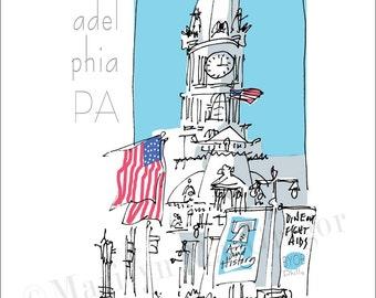 Philadelphia City Hall fine art print 2 sizes