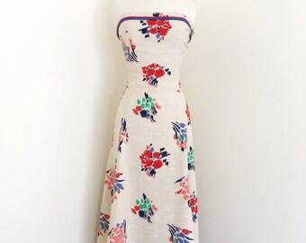 Gilda... vintage 1940's floral print pinup top and dress