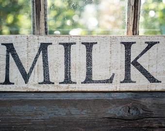 tiny farmhouse kitchen sign, rustic milk sign, farmhouse kitchen decor, neutral style kitchen, cottage kitchen