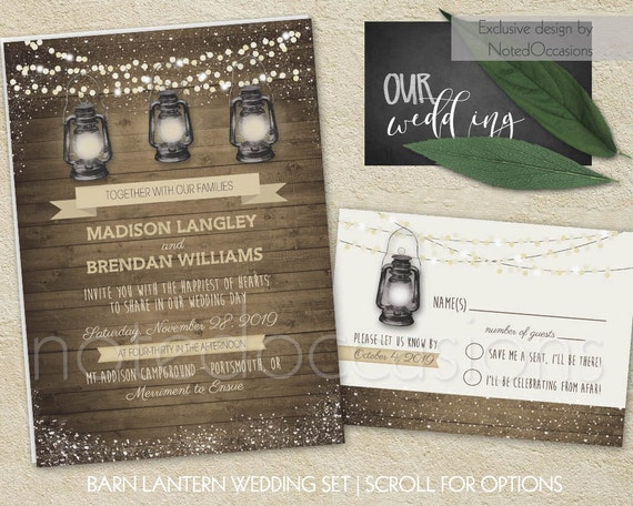 Camping Wedding Invitations: Barn Wedding Invitation Printable Rustic By NotedOccasions