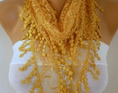 Mustard Lace Scarf,Teacher Gift  Shawl Scarf Women Scarves Cowl Scarf Bridesmaid Gift Gift Ideas For Her Women Fashion Accessories
