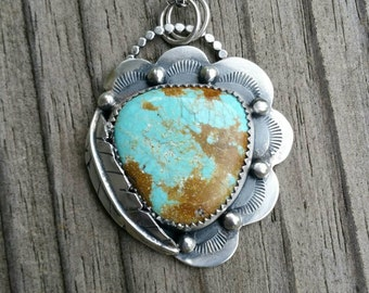 Royston Turquoise Scalloped Edge Necklace