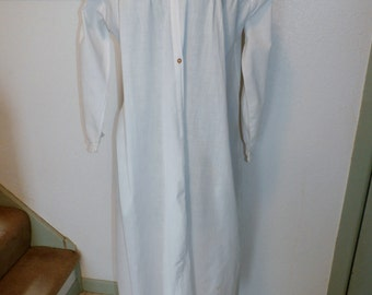 Antique Ladies White Cotton Early 1900s Nightgown Pepperell Label Tucks and Lace