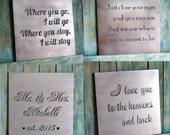 Valentine gift, Custom Metal Quote Sign and Sayings, Inspirational Personalized Sign, Steel Wall Art Decor Medium Size