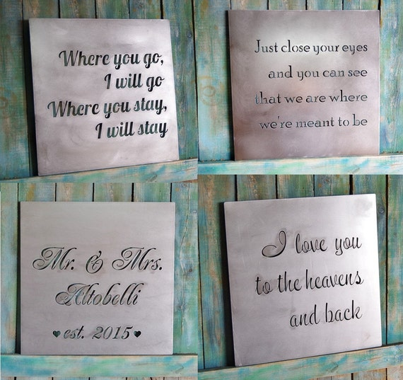 Valentine Gift Custom Metal Quote Sign And Sayings