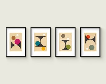 PER FORMARE - Collection of (4) Giclee Prints - Abstract Mid Century Modern