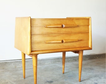 Edmond Spence Danish Modern 2-Drawer End Table or Nightstand