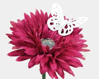 VW Beetle Flower - Pink Diamond Bling Daisy