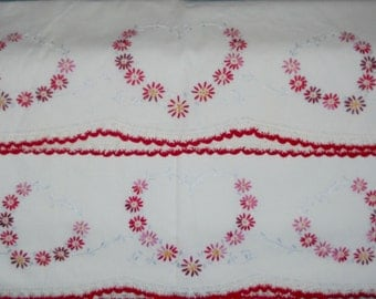 Pair of Lovely Pillow Cases - Handstitched