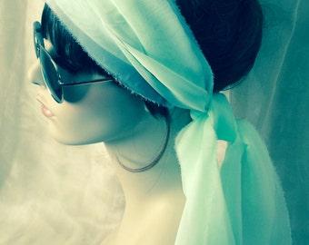 Limited ~ Women's Soft Mint Summer Hair Scarf
