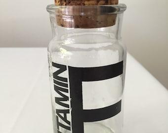 Glass Vitamin E Container