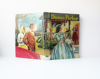 1957 Donna Parker On Her Own Vintage Book - Youth Young Adult Teens Childrens Fiction 1950s Mid Century Mystery Fictional Literature