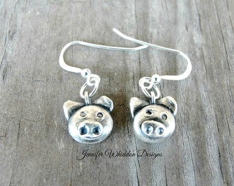 Pig Earrings - Pig Gifts - Mini Pigs - Animal Jewelry - Vegan - Pig Lovers - Pig Rescue