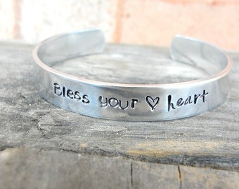 Bless Your Heart Bracelet - Southern Jewelry - Southern Bracelet - Country Jewelry - Southern Sayings