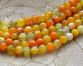 Charm 8mm agate round Gemstone Loose Beads,agate gemstone loose bead,semi-precious stone bead