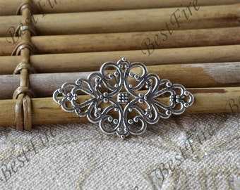 10pcs Antique Silver Filigree Jewelry Connectors Setting,Connector Finding,Filigree Findings,Flower Filigree