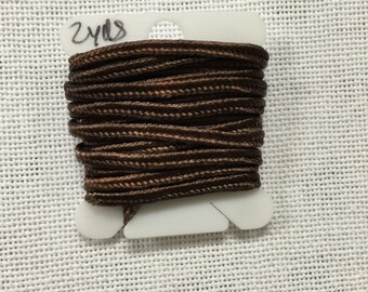 Hand Dyed 3mm Soutache - Chocolate Browns