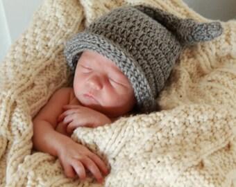 Baby Boy Hat - Newborn Boy Knot Hat - Knotted Baby Hat - Hipster Boy Hat - Baby Shower Gift -  by JojosBootique