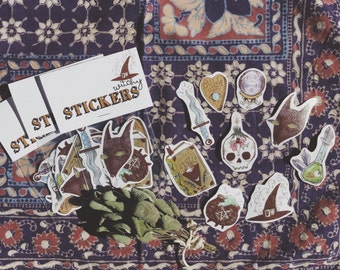 SALE! Witchy Illustrated Sticker Pack