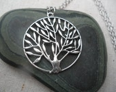 Silver Tree Necklace Tree of Life Jewelry Simple Everyday Silver Necklace Nature Jewelry