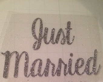 "Newlywed Iron-On Decal ""Just Married"""