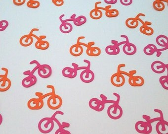 Tricycle Confetti Trike Birthday Party Decor Baby Shower Table Sprinkles, Bicycle Die Cut Party Decor, Color Options