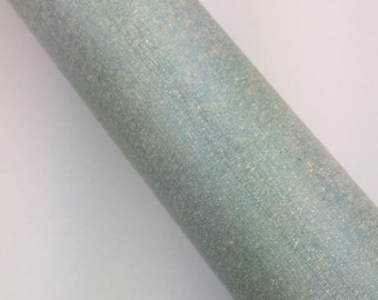 Pale Blue with Gold - Book Cloth Swatch - Asahi Book Cloth