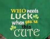 Who Needs Luck When You're This Cute St. Patrick's Day Dog Bandana