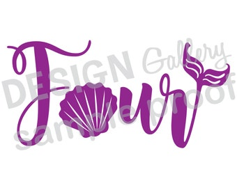 Unique Fourth Birthday Svg Related Items Etsy