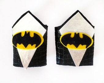 Batman Wrist Cuffs / Kids Superhero Costume Accessories