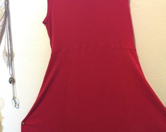 Sale!large dress/the territory ahead full sweep/tencel/knee length slvless/flaw: see details
