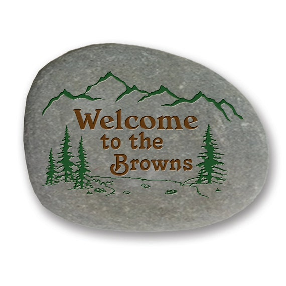 Personalized Engraved Garden Stone On All Natural River Rock