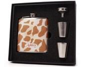 Personalized Giraffe Flask Gift Set for Women