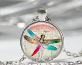 ON SALE Dragonfly Necklace Insect Jewelry Bugs Dragonflies Nature Art Pendant in Bronze or Silver with Link Chain Included
