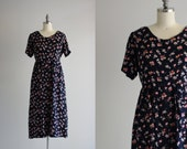 SALE - Dark Floral Grunge Dress . 90s Dress . Oversized Button Up Dress