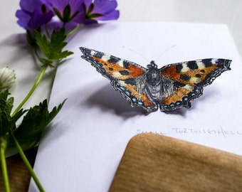 Pop-up Butterfly Card - Small Tortoiseshell