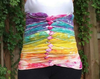 Medium/Large - Belly Binding Wrap - Soft Rainbow - Please Read Item Details Before Buying