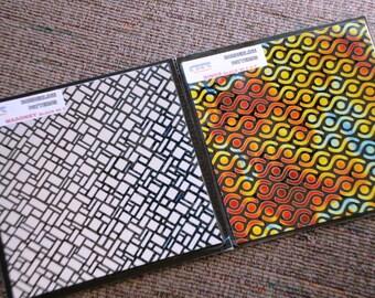 CBS Dichroic 4 Inch Square (Masonry/Rings) - 96 COE - 2 pieces