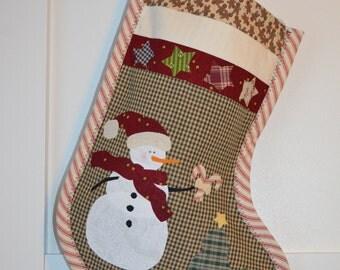 Homemade Christmas Stocking Snowman #1