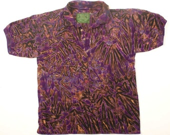 M Shibori Polo Shirt Purple Tie Dye