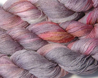 SAKURA Silk Merino Lace in Autumn Roses - One of a Kind