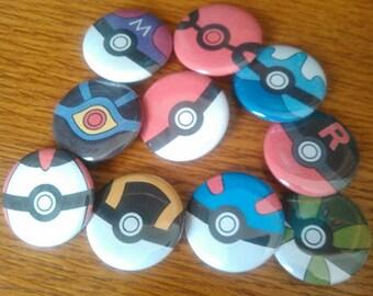 Pokeball Pins