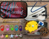 Shh I'm Counting: The Knitter's Tool Tin with notions for your knitting bag