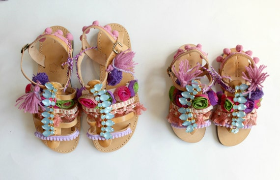 Mommy and me!  Boho Sandals