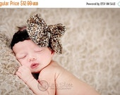 10% off SALE THE DIVA bling Baby headband, newborn headband, adult headband, child headband and photography prop, Leopard rhinestone bow hea